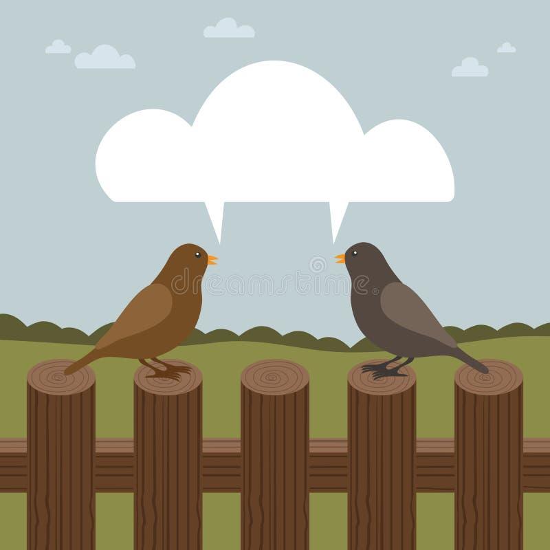 鸟联系 向量例证