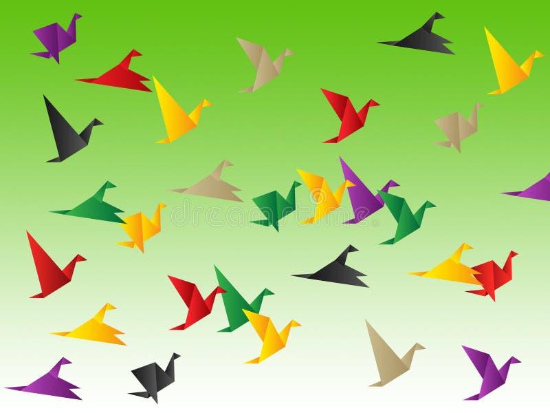 鸟自由展示发生并且逃避 向量例证