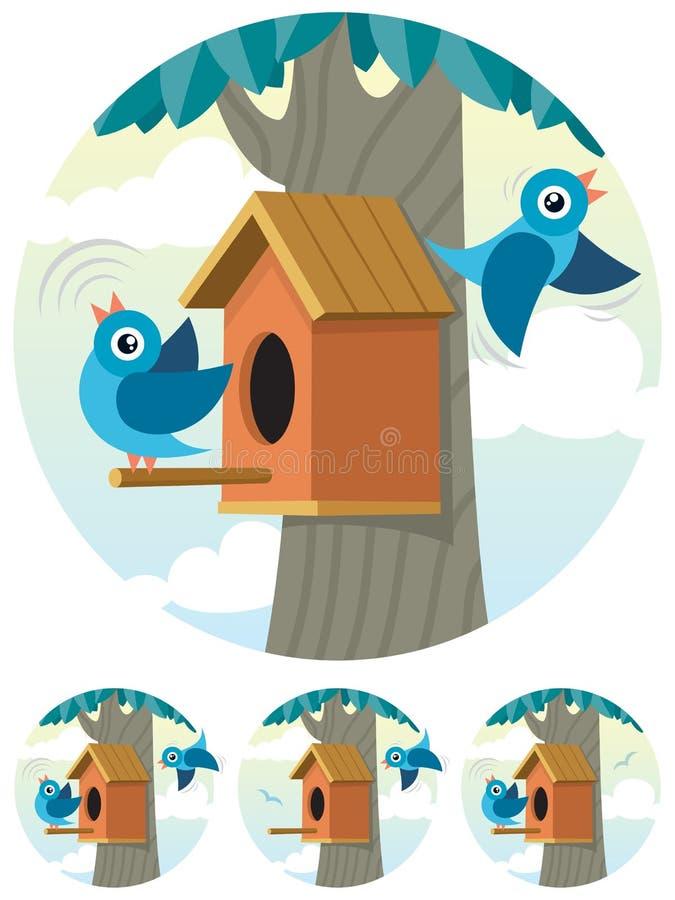 鸟舍 向量例证