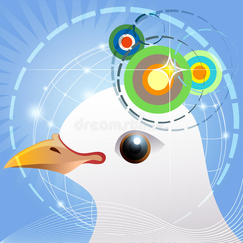 鸟航海 向量例证