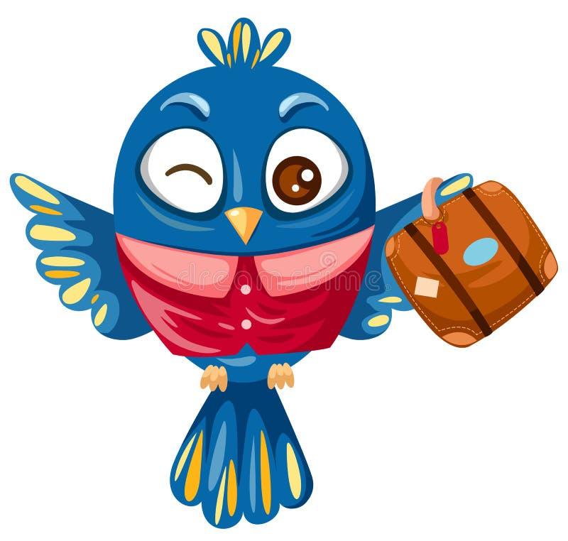 鸟蓝色旅行 皇族释放例证