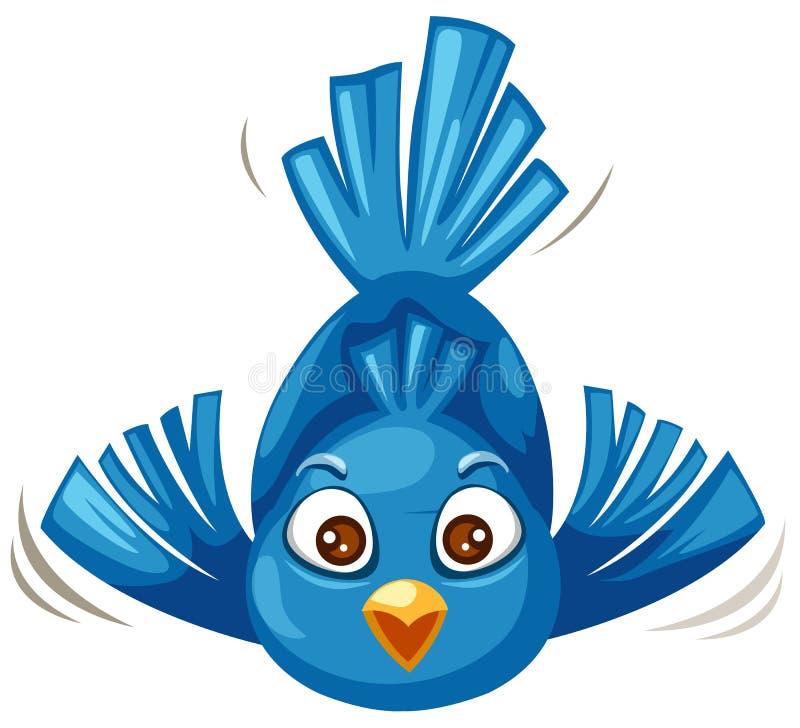 鸟蓝色 向量例证