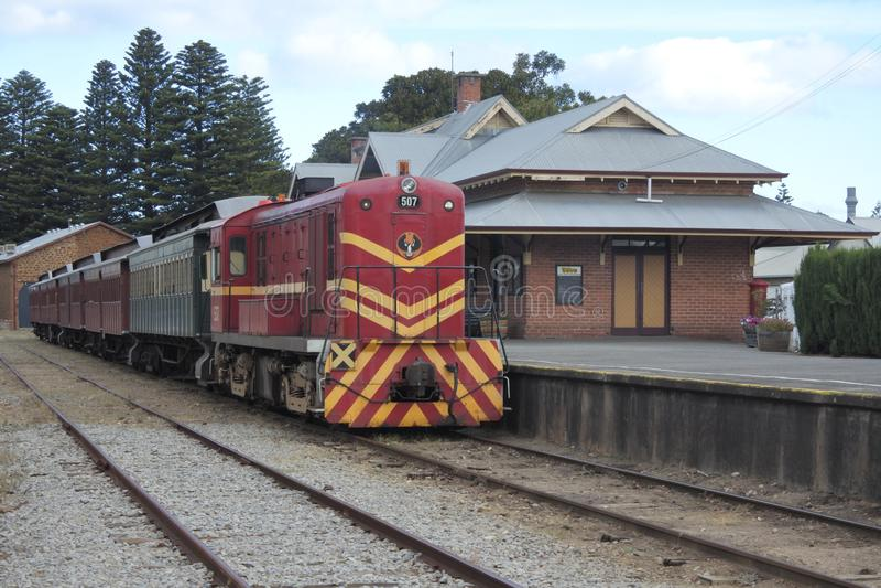 鸟蛤火车维克多港南澳大利亚澳大利亚 库存照片