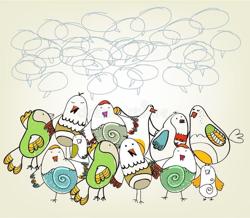 鸟被画的现有量 皇族释放例证