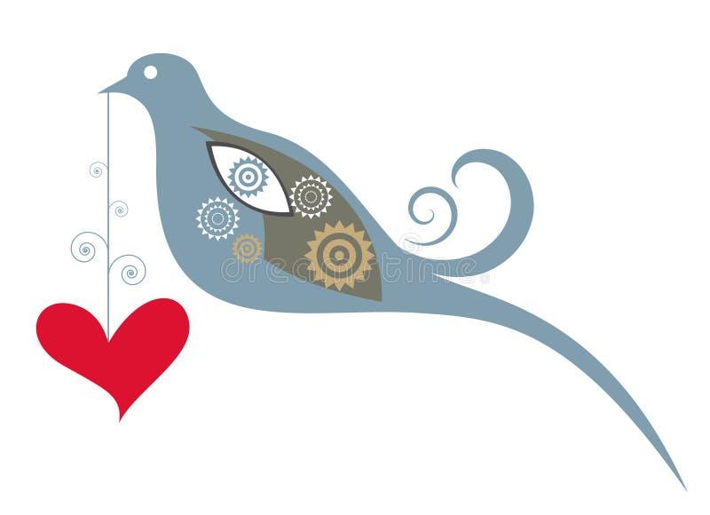 鸟装饰爱 皇族释放例证