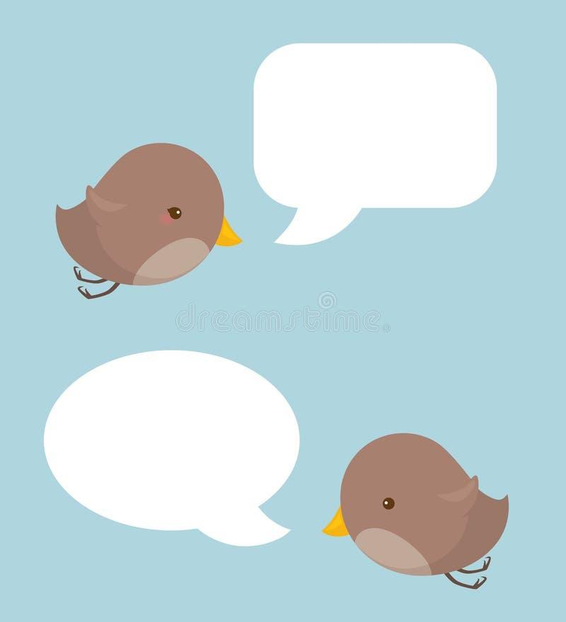 鸟讲话 免版税库存照片