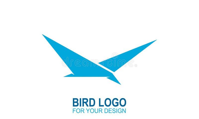 鸟象商标, origami传染媒介例证图形设计 皇族释放例证