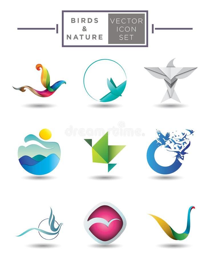 鸟象征汇集 向量例证