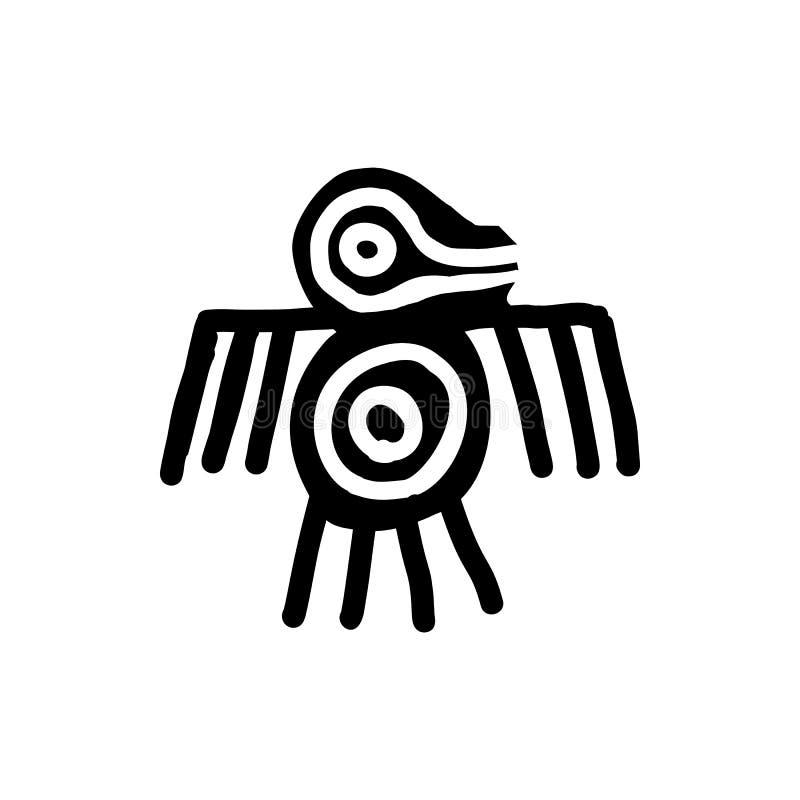 鸟象阿兹台克人 皇族释放例证