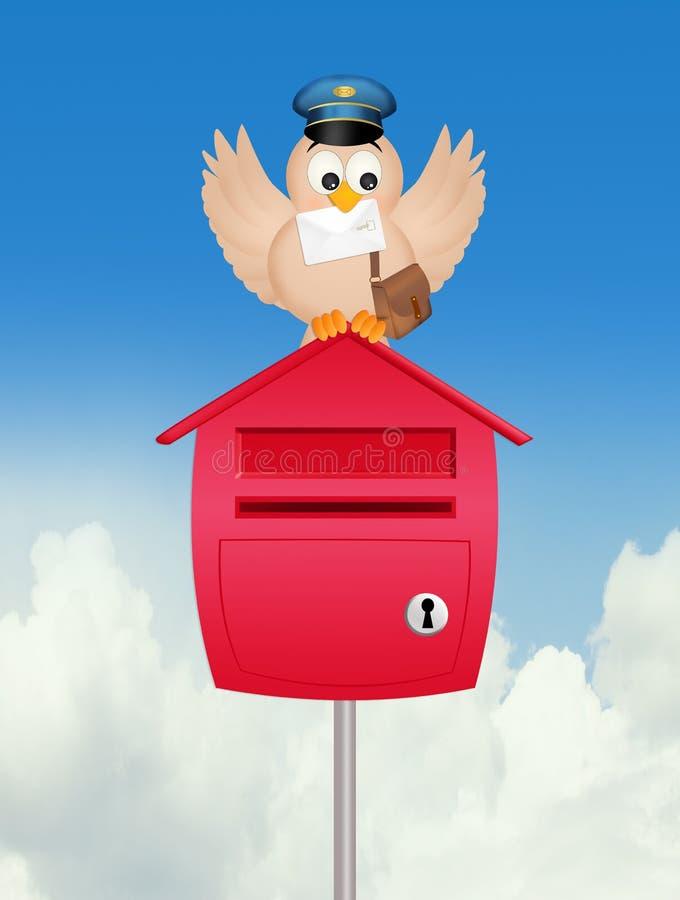 鸟邮差的例证 库存例证