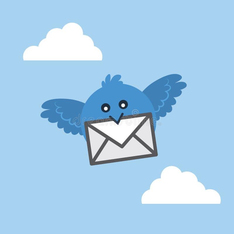 鸟飞行信件 皇族释放例证