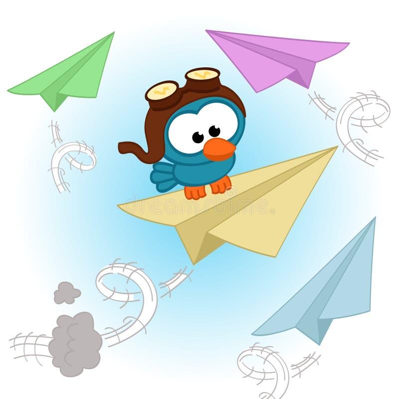 鸟飞行员 免版税库存图片
