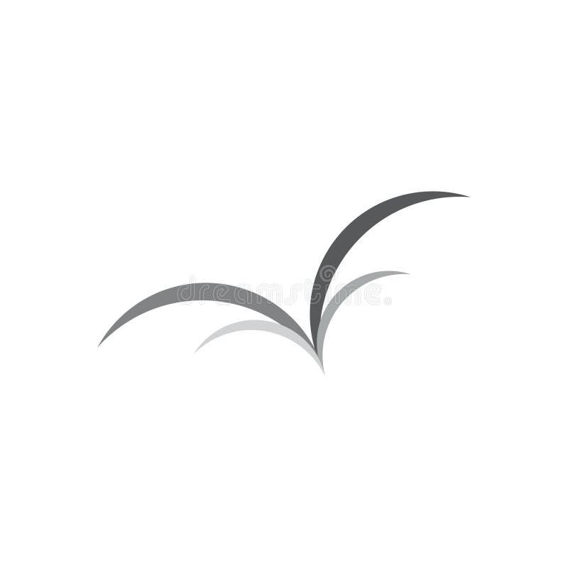 鸟飞行抽象符号商标传染媒介 向量例证