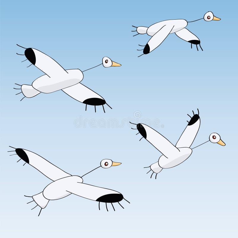 鸟飞行 向量例证