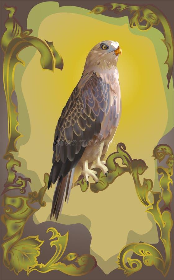 鸟鹰 皇族释放例证