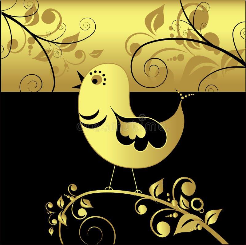 鸟黑色金子向量 向量例证