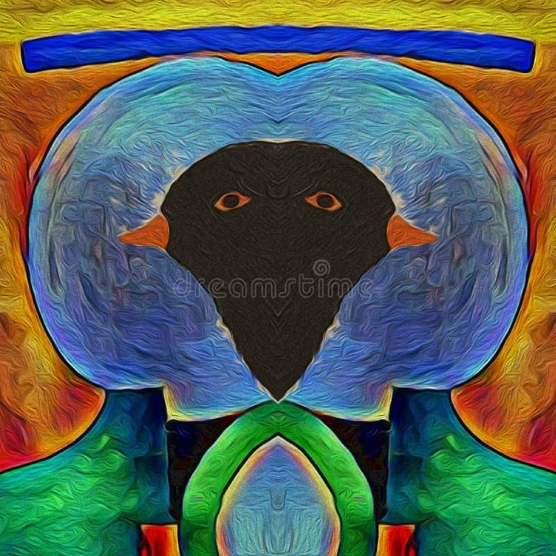 鸟黑鹂的颜色 库存例证
