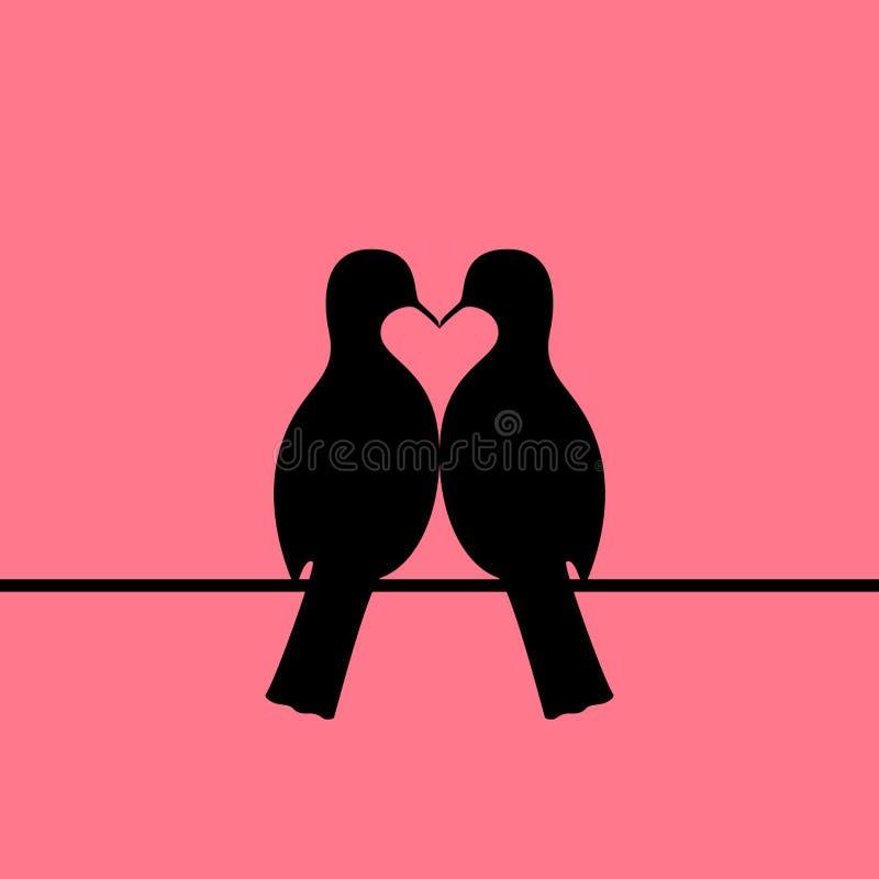 鸟结合形成心脏 库存例证
