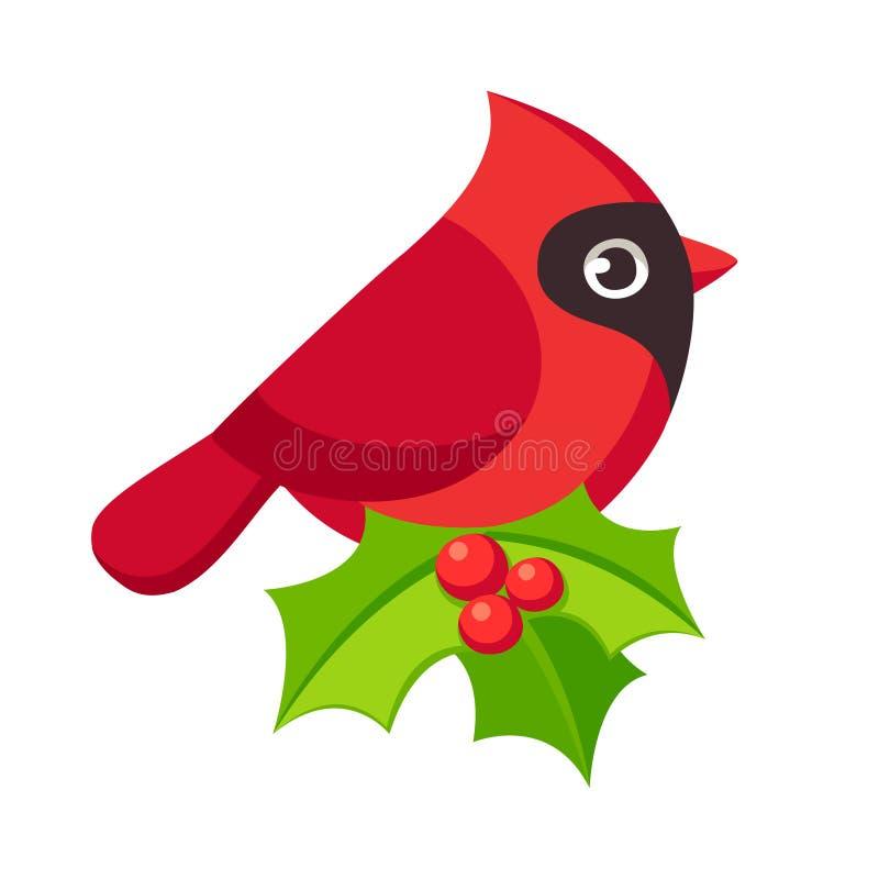 鸟主要红色 皇族释放例证