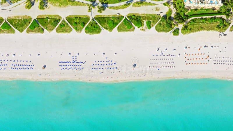 鸟` s眼睛视图迈阿密海滩 库存照片