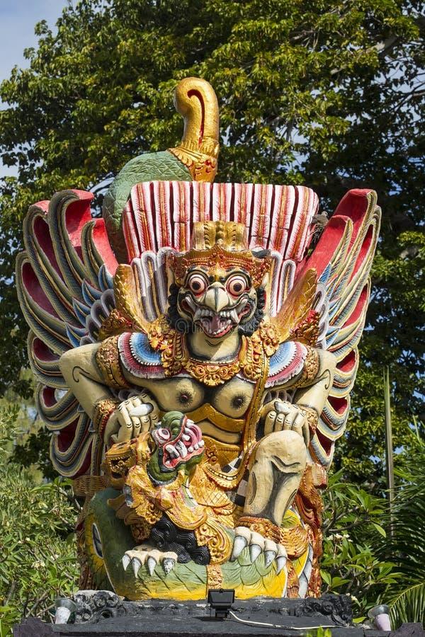鸟Garula,巴厘岛,印度尼西亚的大雕塑 库存图片