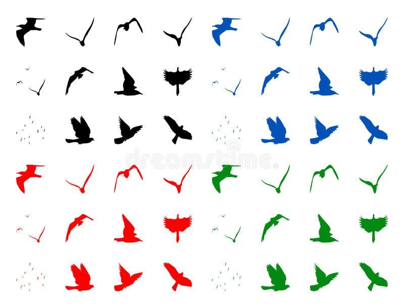 鸟silhuettes 库存图片