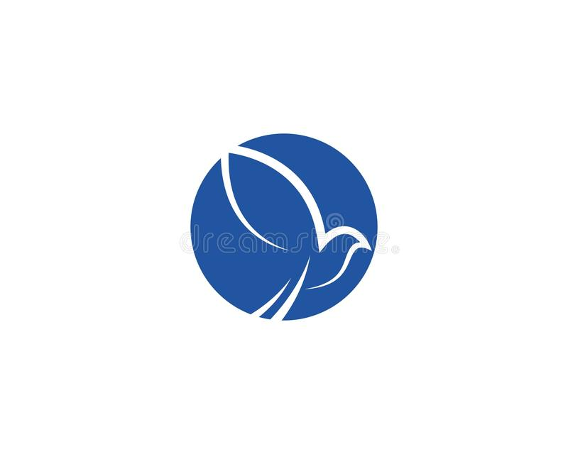 鸠鸟商标模板 向量例证