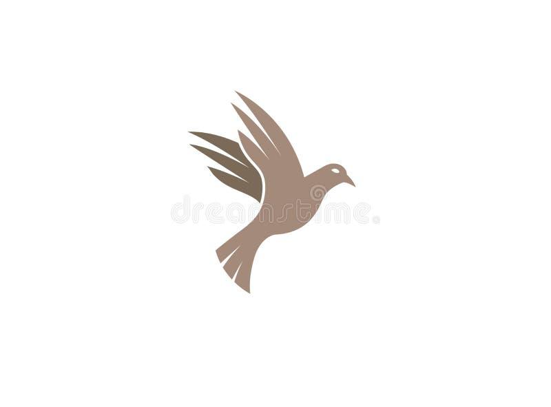 鸠鸟开放翼和为商标设计例证飞行 皇族释放例证