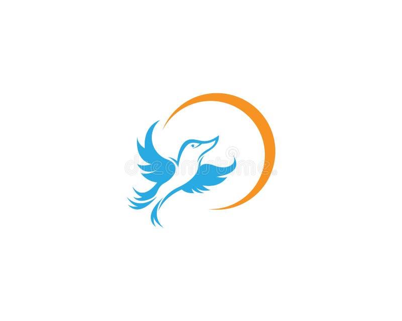 鸠鸟飞行商标 向量例证