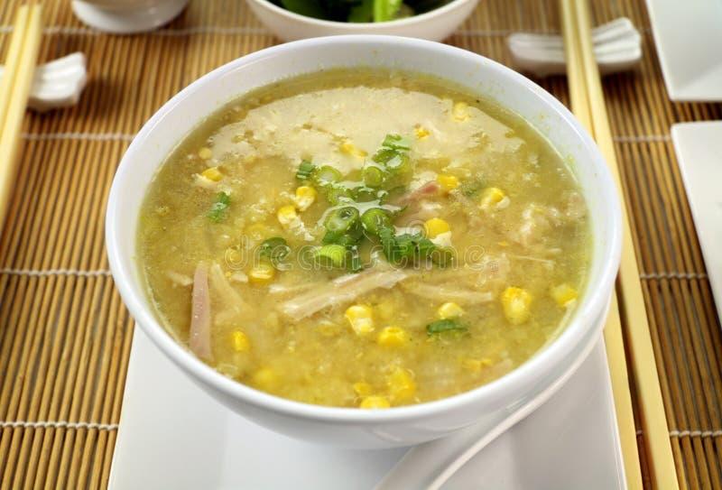 鸡中国玉米汤 库存图片