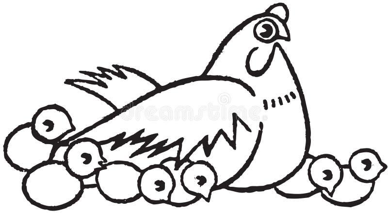 鸡凹道系列现有量 皇族释放例证