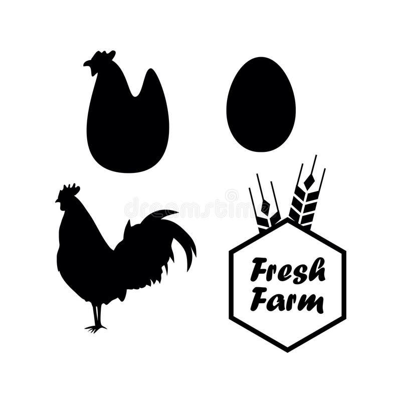 鸡和农厂传染媒介象征 皇族释放例证