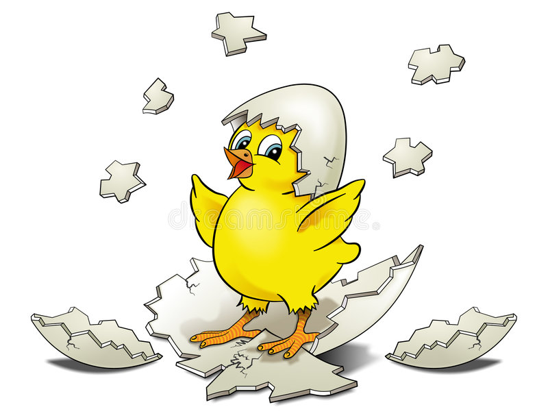 鸡孵化 皇族释放例证