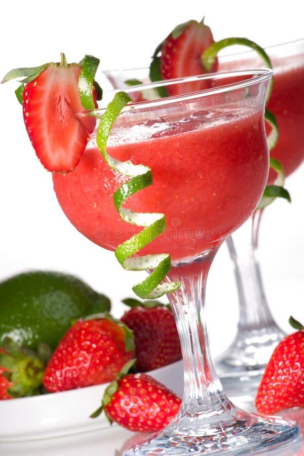 鸡尾酒代基里酒多数普遍的serie草莓 免版税库存照片