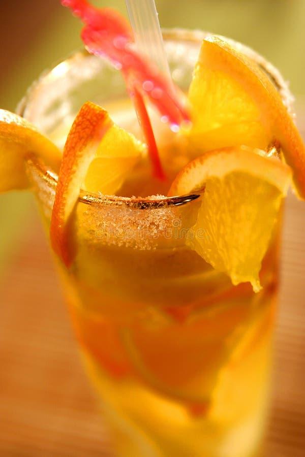 鸡尾酒刷新鲜美 免版税图库摄影