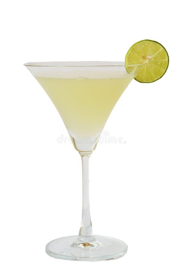 鸡尾酒和酒精在白色背景 库存照片