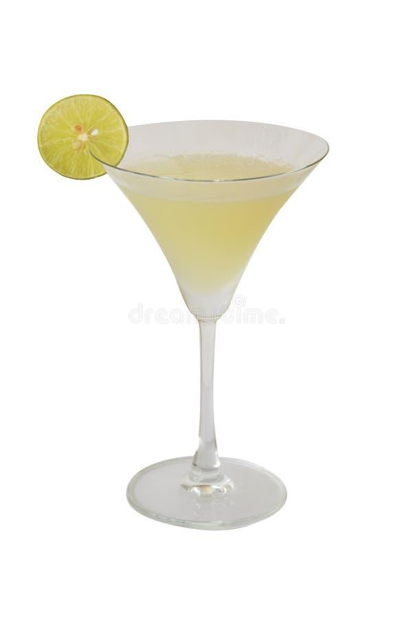 鸡尾酒和酒精在白色背景 库存图片