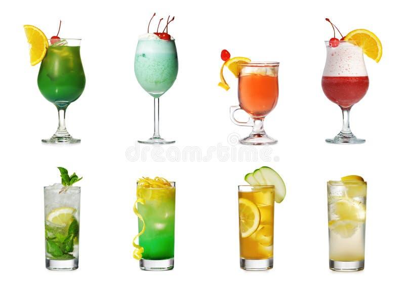 鸡尾酒收集 免版税图库摄影