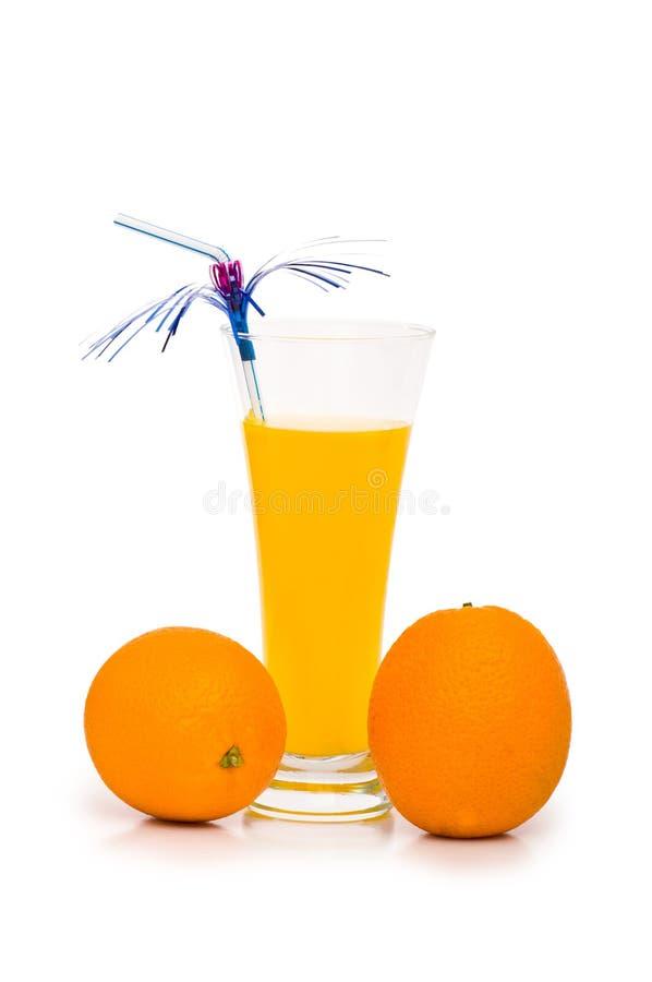 鸡尾酒查出的桔子 免版税图库摄影