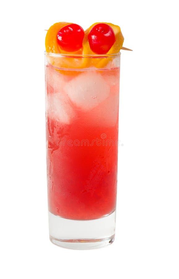鸡尾酒查出的橙色刷新 免版税图库摄影