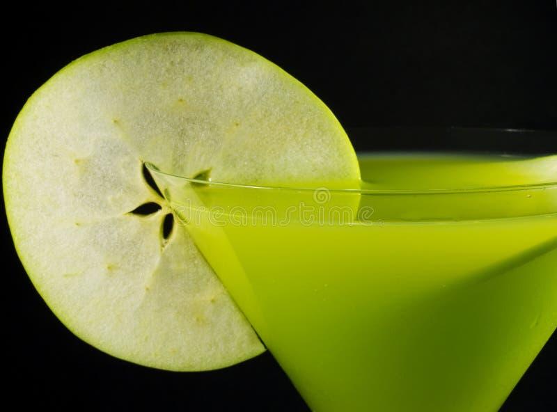鸡尾酒汇集-苹果计算机马蒂尼鸡尾酒 库存图片