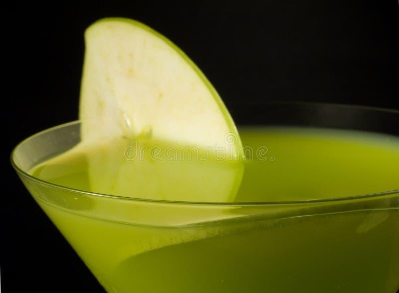 鸡尾酒汇集-苹果计算机马蒂尼鸡尾酒 库存照片