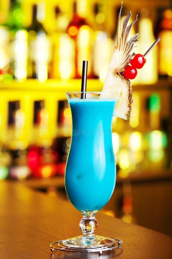 鸡尾酒汇集-蓝色夏威夷人 库存照片