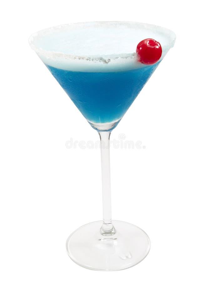 鸡尾酒汇集-蓝色夫人 免版税库存图片
