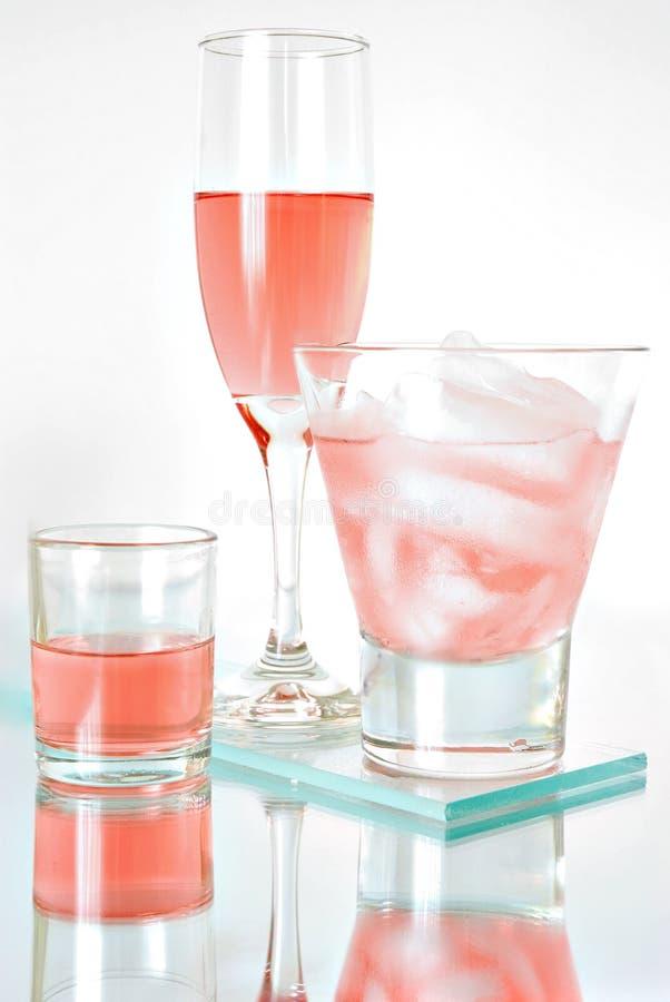 鸡尾酒粉红色 库存图片