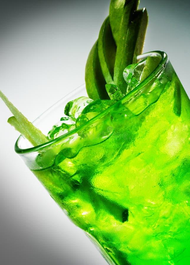 鸡尾酒绿色 库存图片