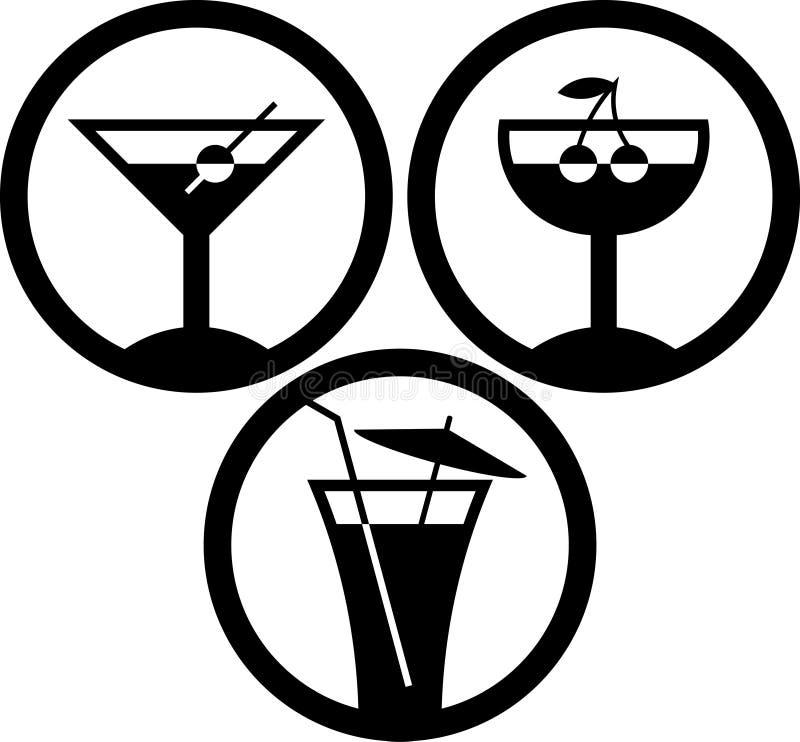 鸡尾酒饮料向量 库存例证