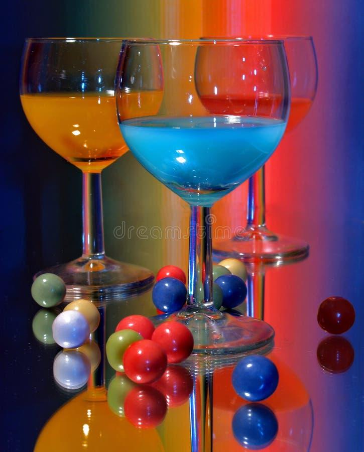 鸡尾酒colorfull 库存照片