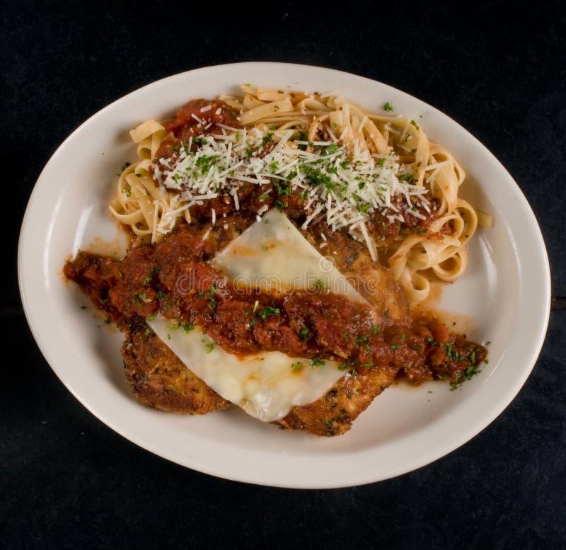 鸡意大利面食 免版税图库摄影