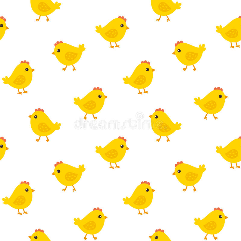 鸡无缝的样式 皇族释放例证